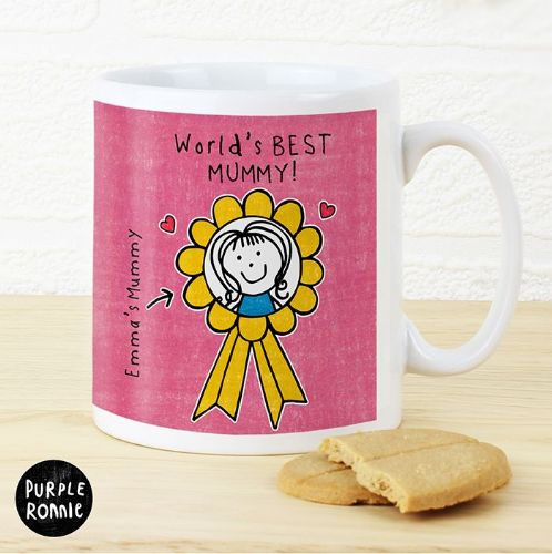 Personalised Purple Ronnie Rosette Mug For Her